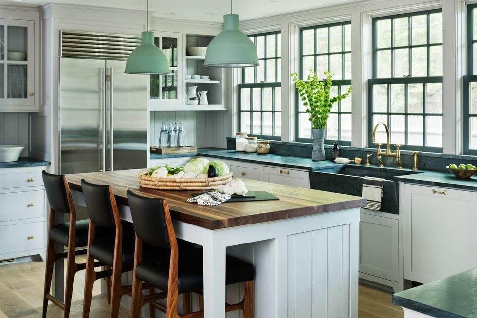 hire an interior designer for a transitional kitchen interior