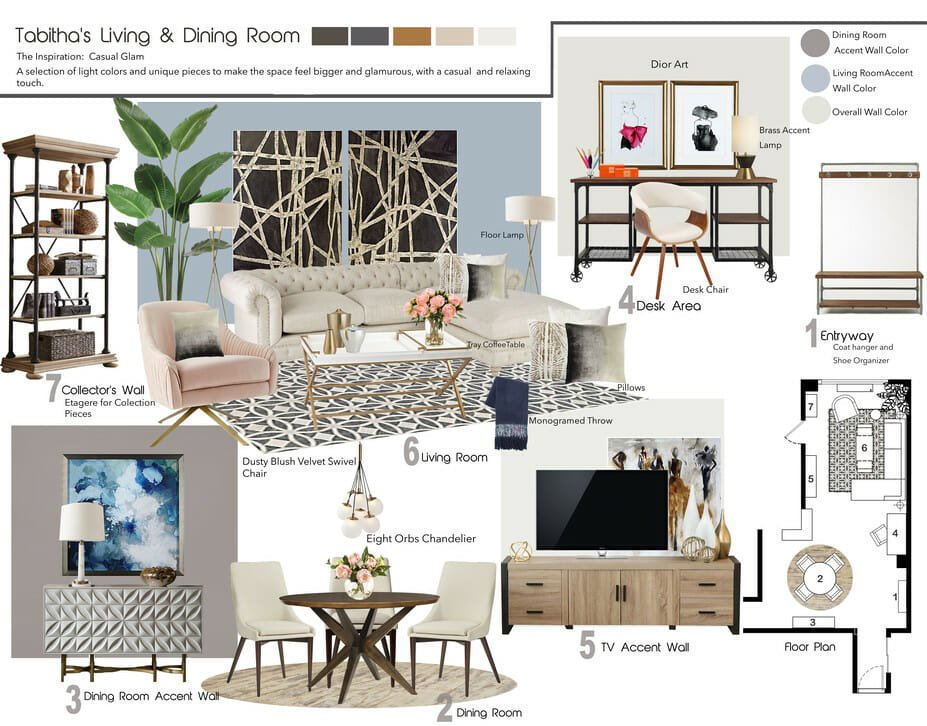 modern living room decorilla moodboard