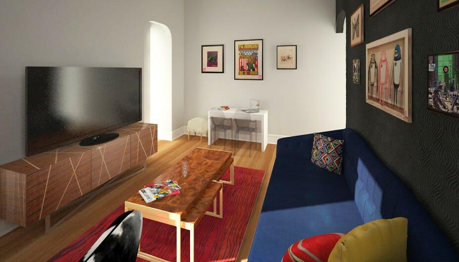 5_Eclectic-Living-Room-Studio-Apartment-Online-Design- dining area
