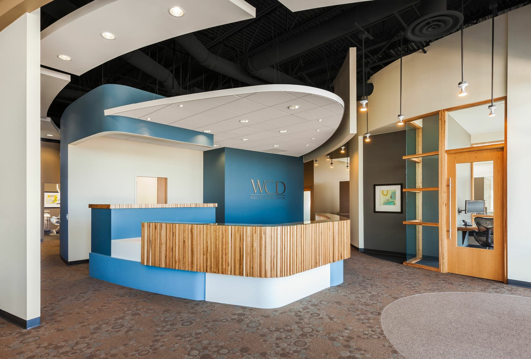 dental-office-interior-design-Willow-Creek-Reception