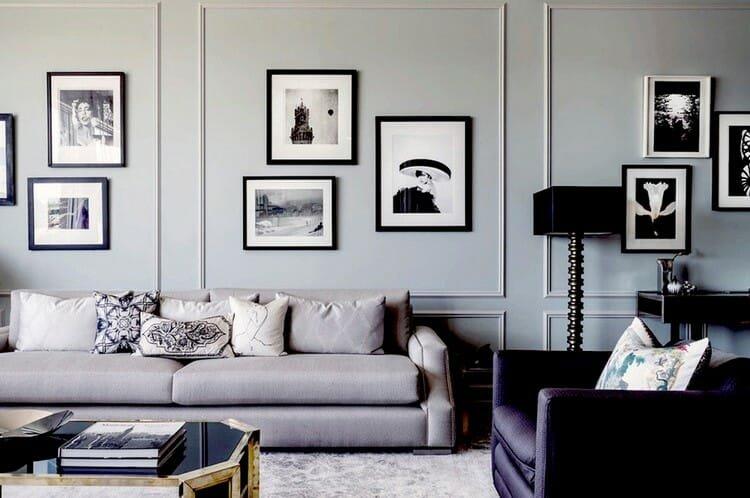 origina art series in monochrome lounge
