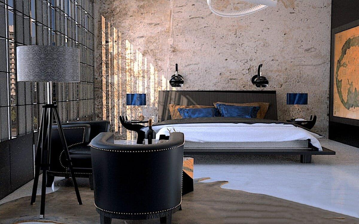 Contemporary bedroom by Decorilla Orlando interior decorator, Yumilka S.