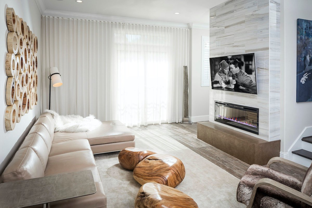 Contemporary living room interior design orlando - morrone interiors