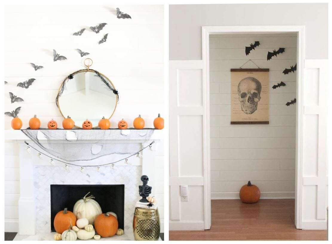 modern halloween decorations bats