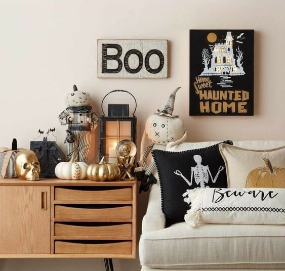 modern halloween decorations pillows