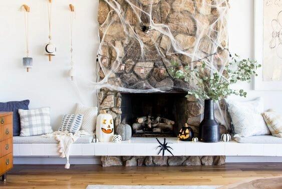 modern halloween decorations spider web