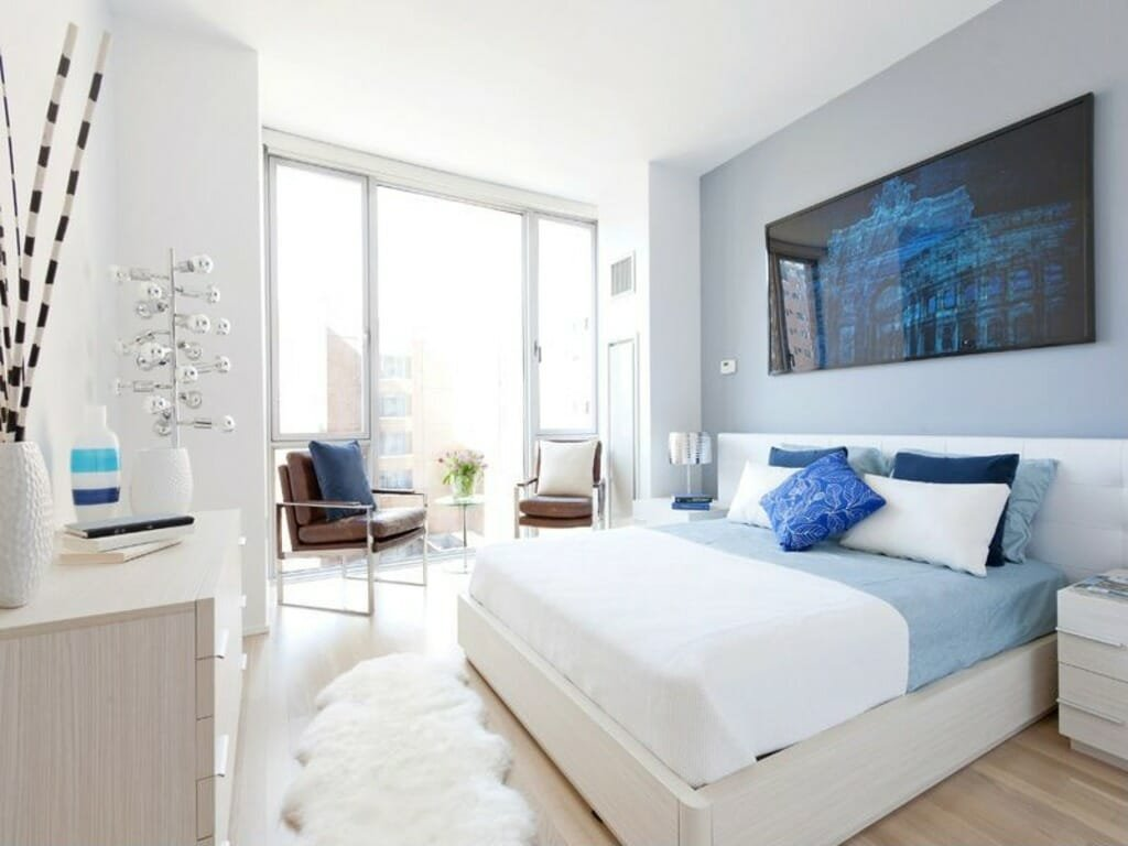 modern interior design art blue