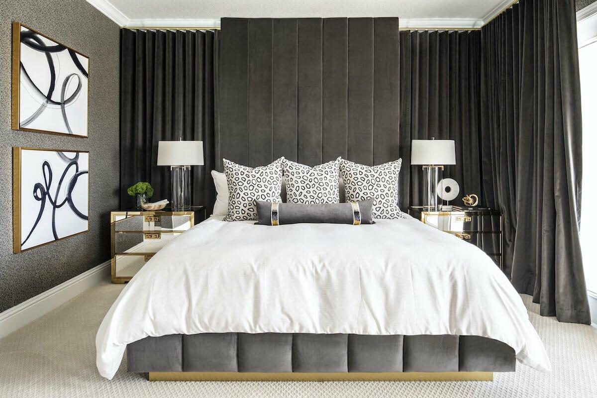 moody bedroom by houzz interior designer orlando christina kairis