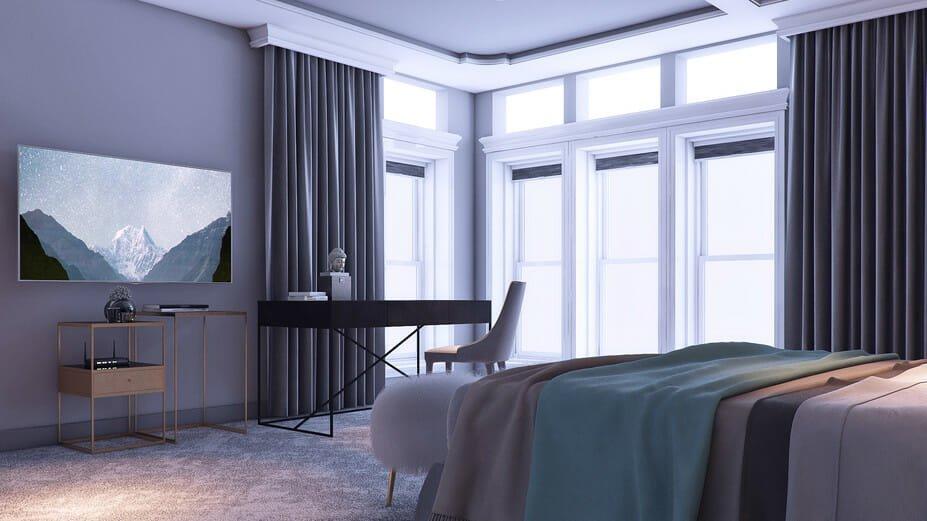 romantic bedroom online design by Decorilla designer Miaden C.