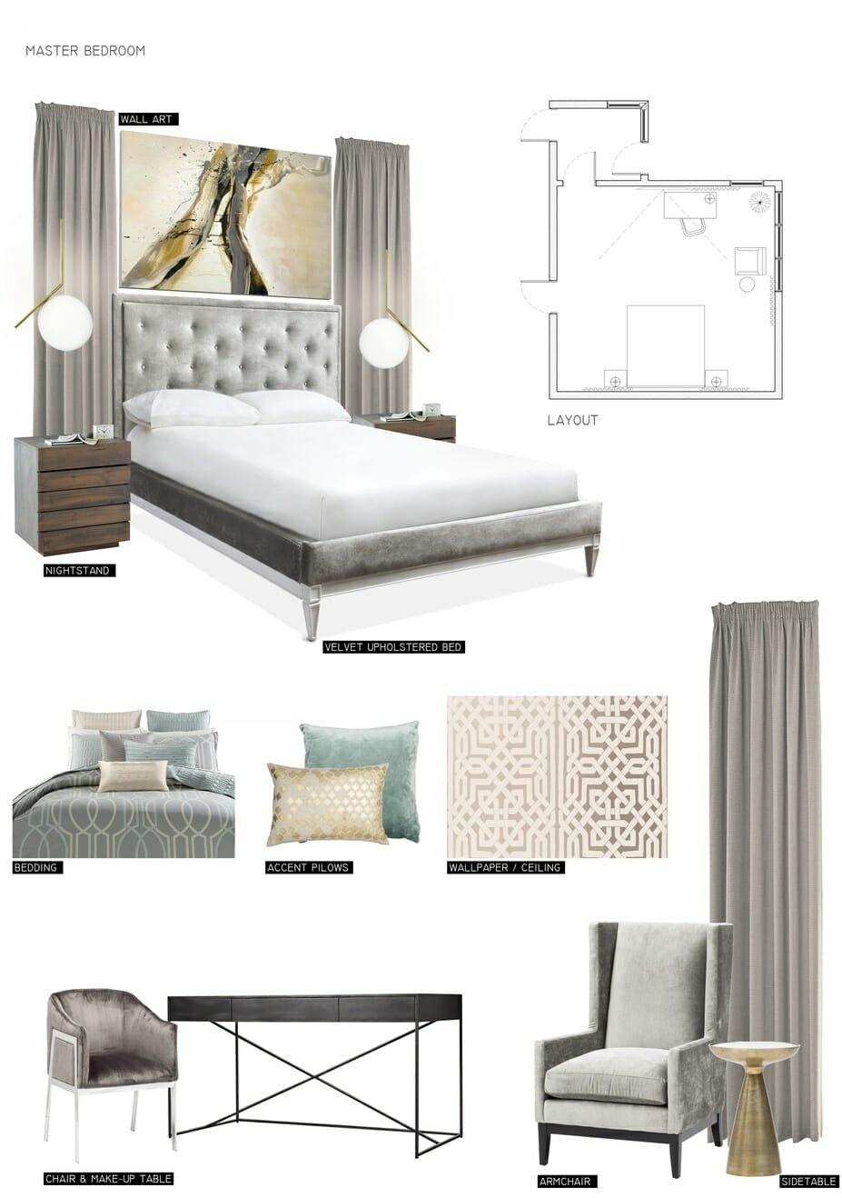 Before & After: Romantic Bedroom Online Interior Design ...