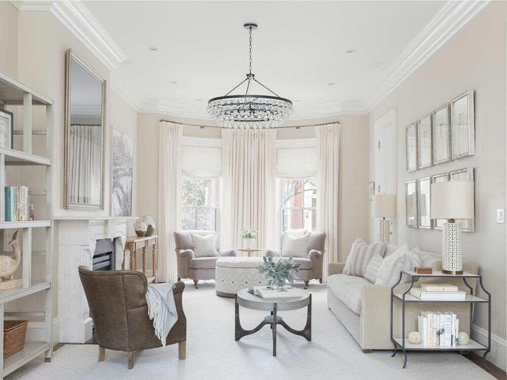 twelve chairs interior design - living room design - boston ma