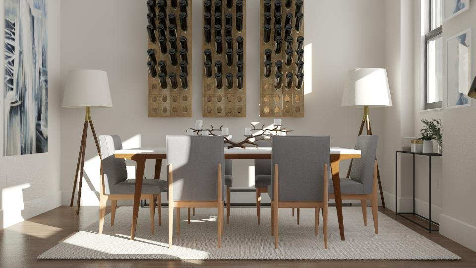 Mid century modern dining room by one of the best interior designers in Boston, MA