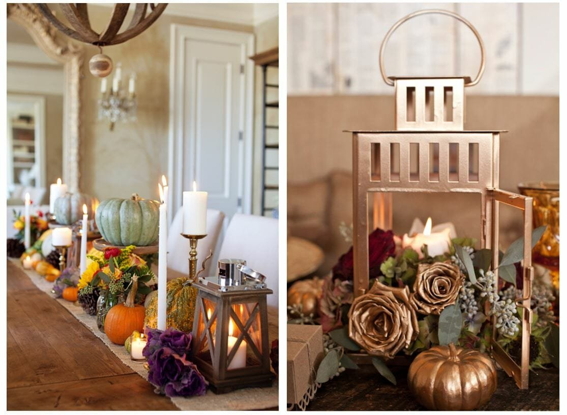fall table decorating ideas lanterns