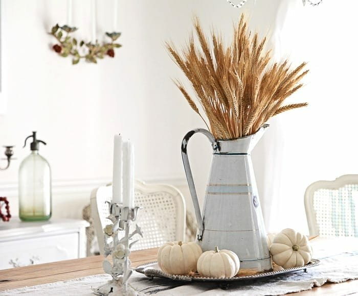 fall table decorating ideas wheat