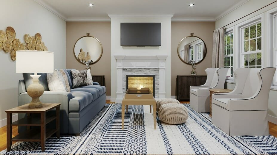 transitional online living room design_2