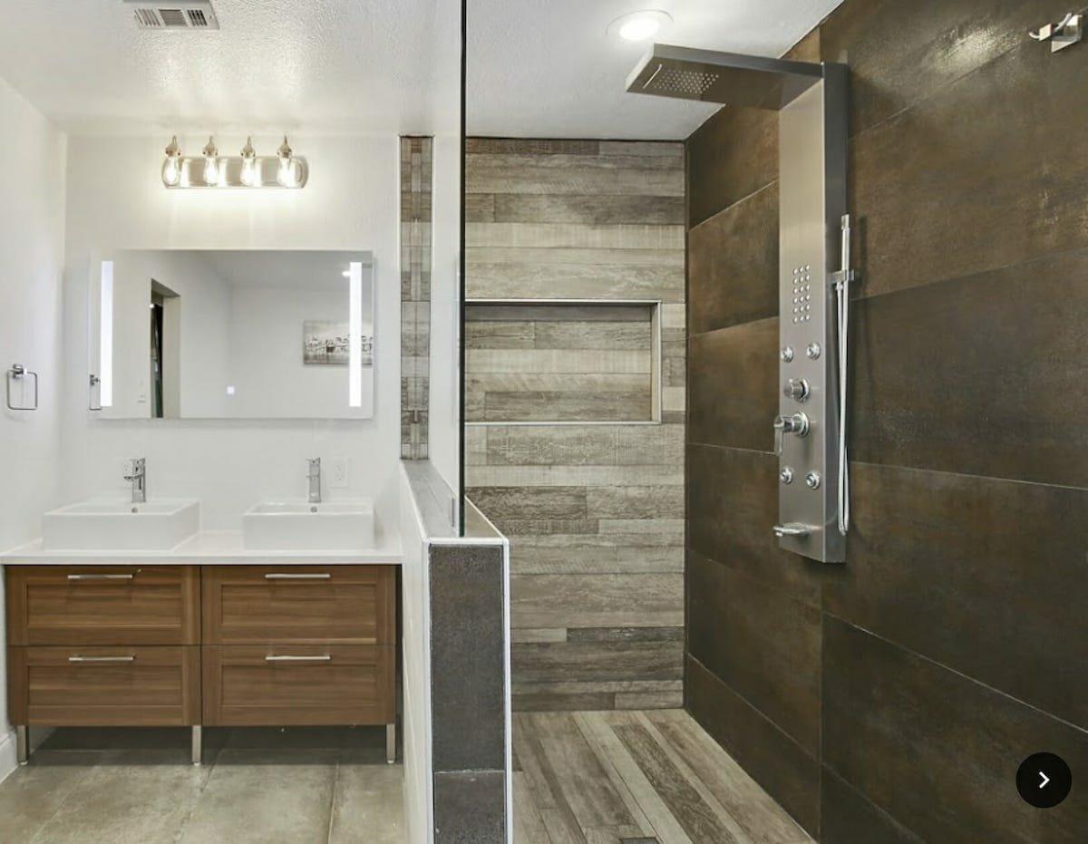 Modern bathroom by one of the top Decorilla Dallas interior designers, Holly M.