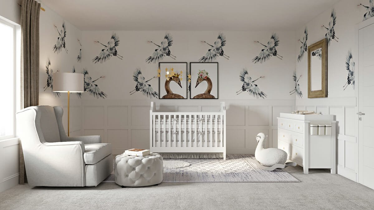 arty touches in a white nursery from interior designer spotlight