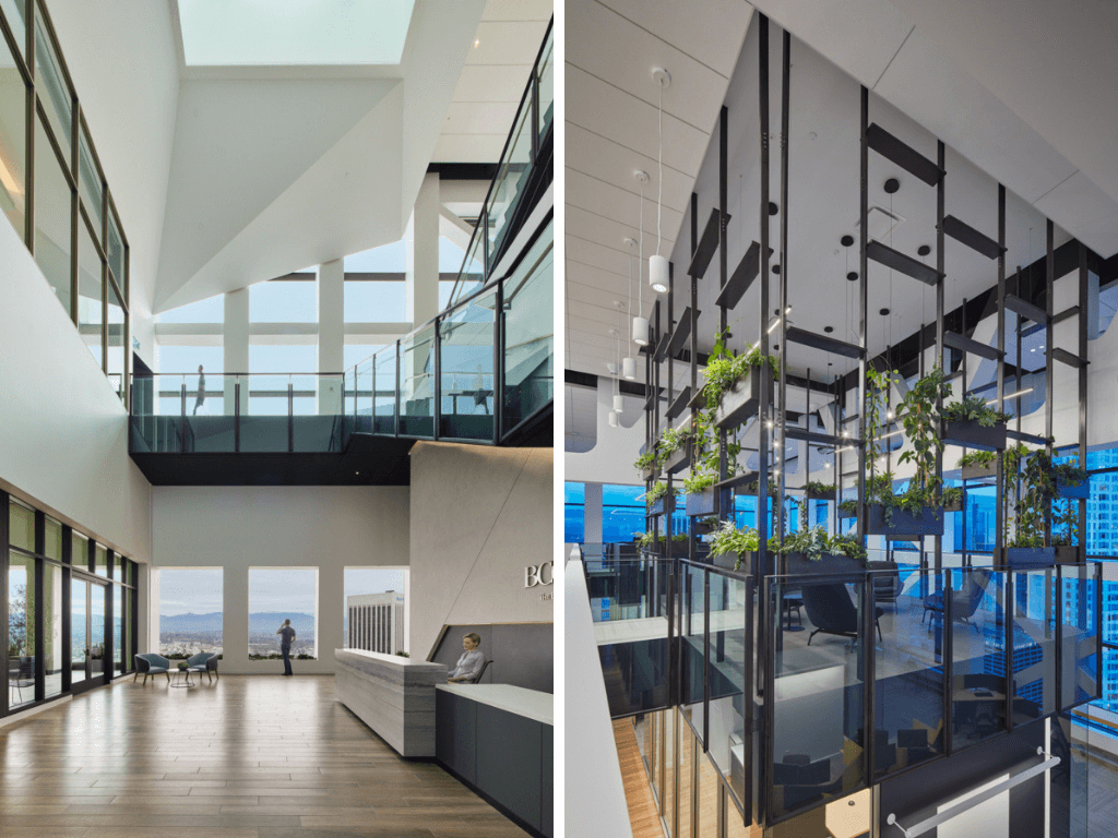 contemporary office design glass walls