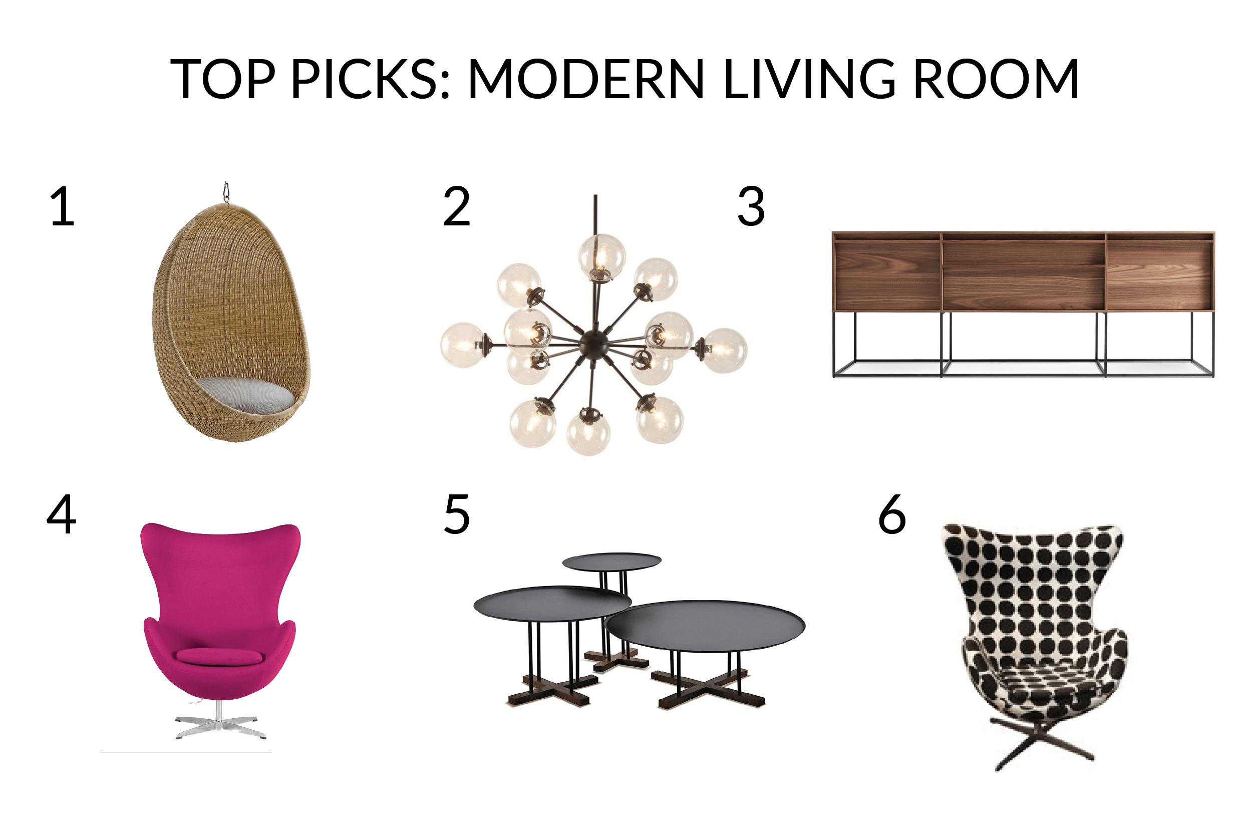 furniture for colorful modern living room interior design