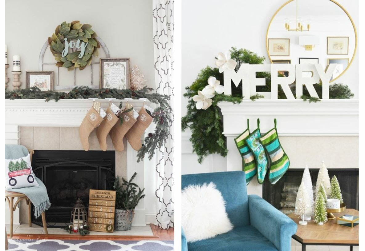 holiday decor trends asymmetrical mantle