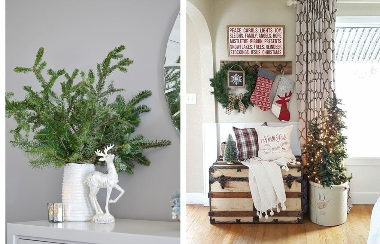 holiday decor trends tree in vase