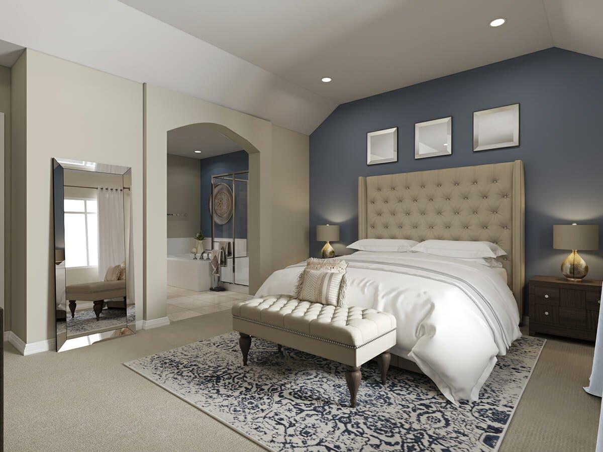 interior designer spotlight on classic bedroom