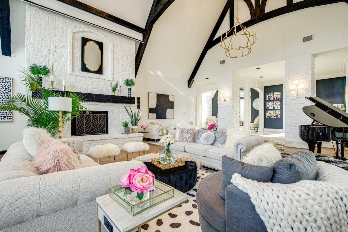 modern glam farmhouse interior design dallas