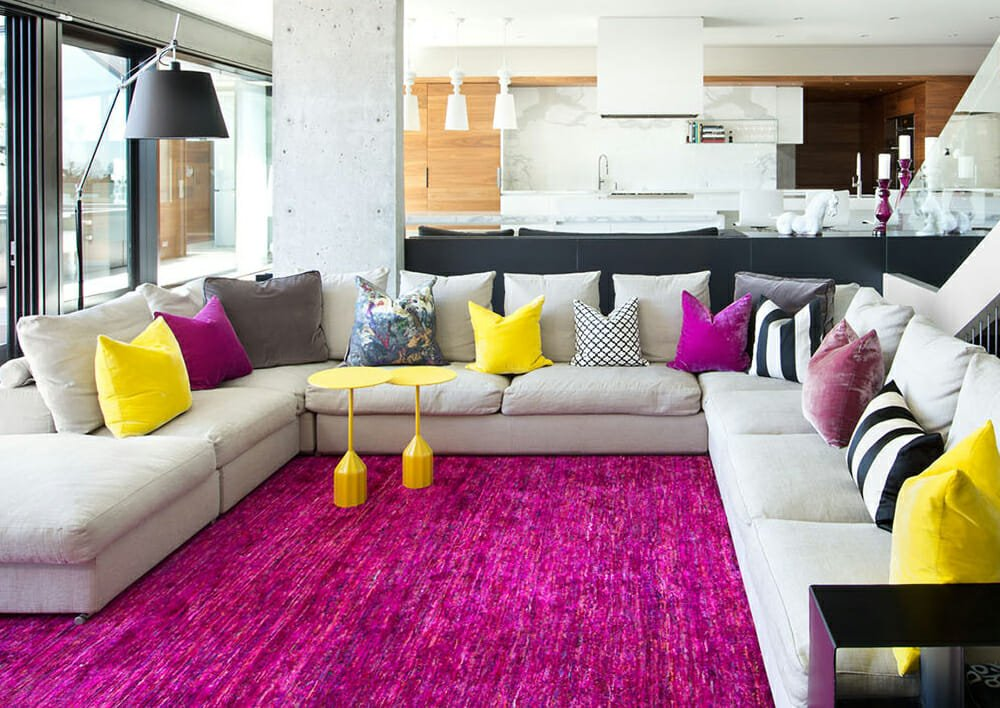 astounding bright colorful living room ideas | Before & After: Trendy & Colorful Modern Living Room ...