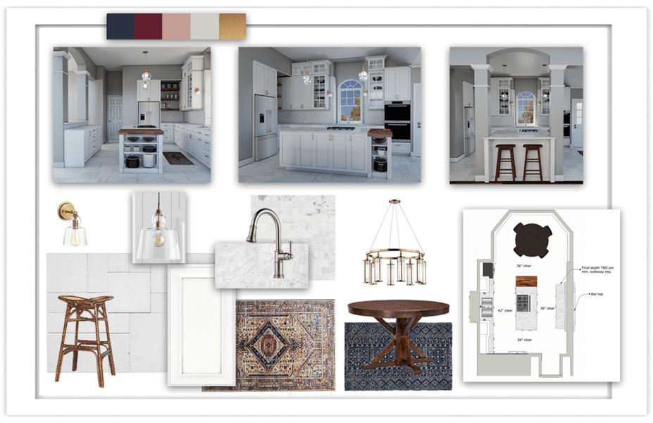 online interior designers mood board design