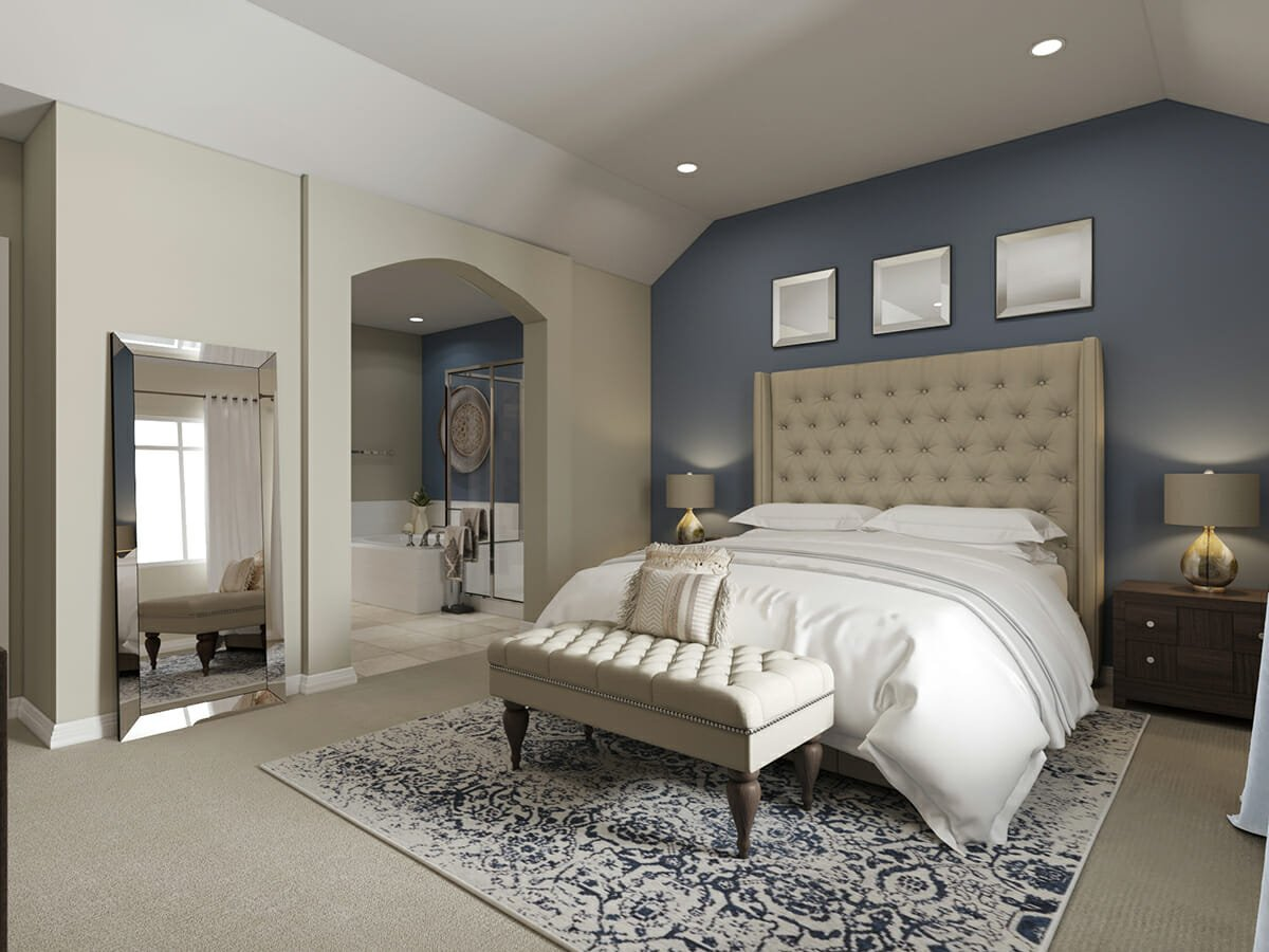 Luxurious interior design bedroom