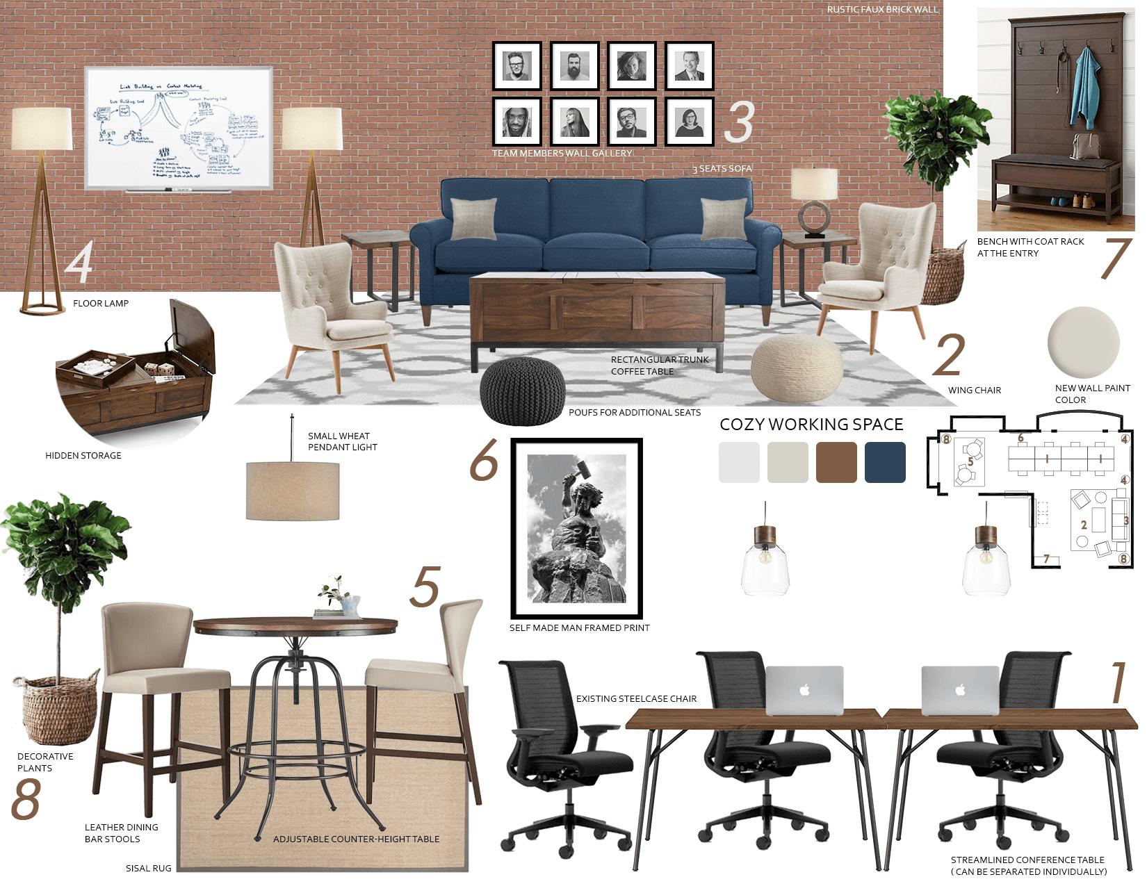 before  u0026 after  small modern online office design