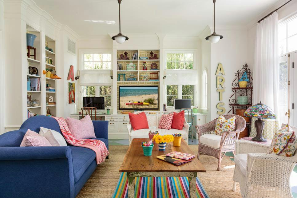 colorful cottage design decor
