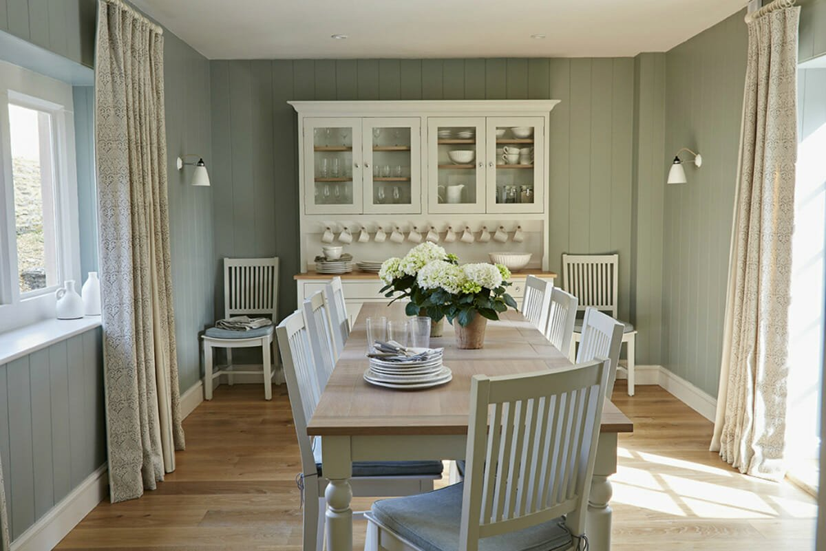 duckegg cottage interior design dining room