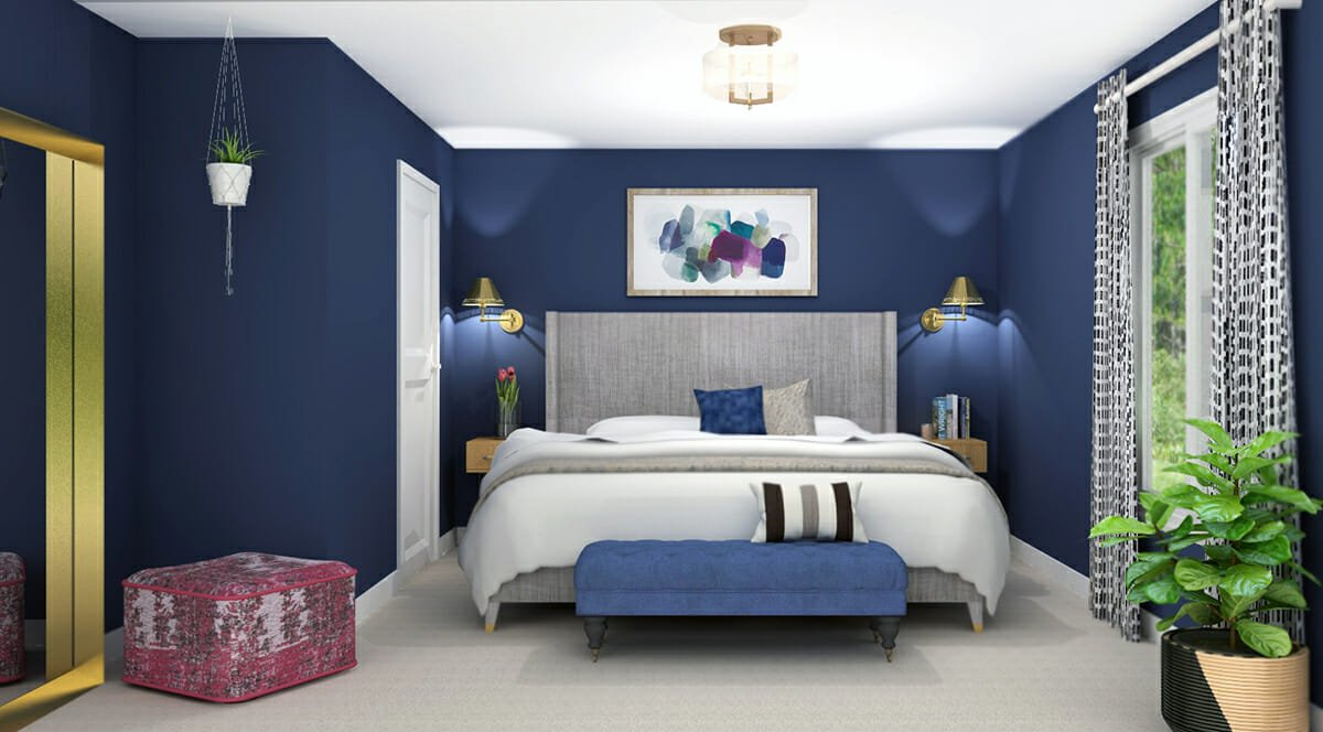 eclectic bedroom online interior design spotlight