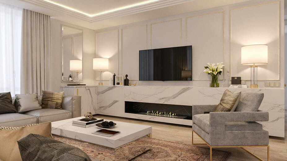luxury apartment design online living room 1