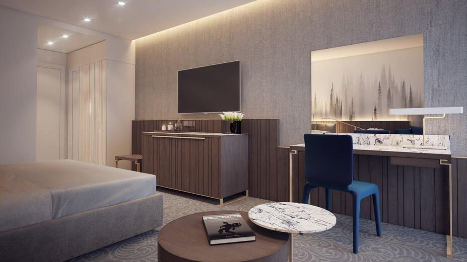 luxury boutique hotel interior design online
