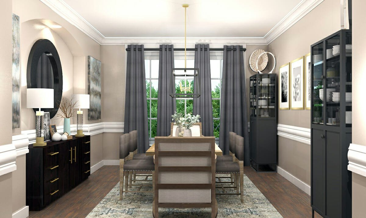 online interior designer formal dining room
