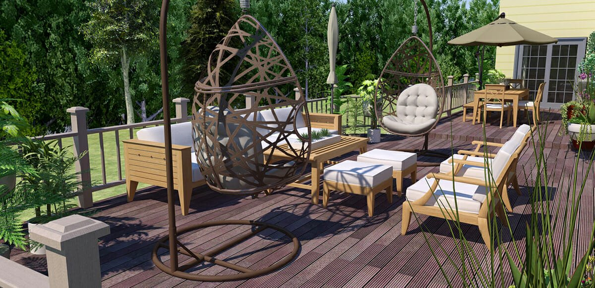 online interior designer spotlight outdoor lounge