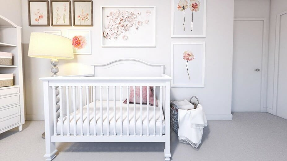 contemporary gray and pink baby bedroom ideas