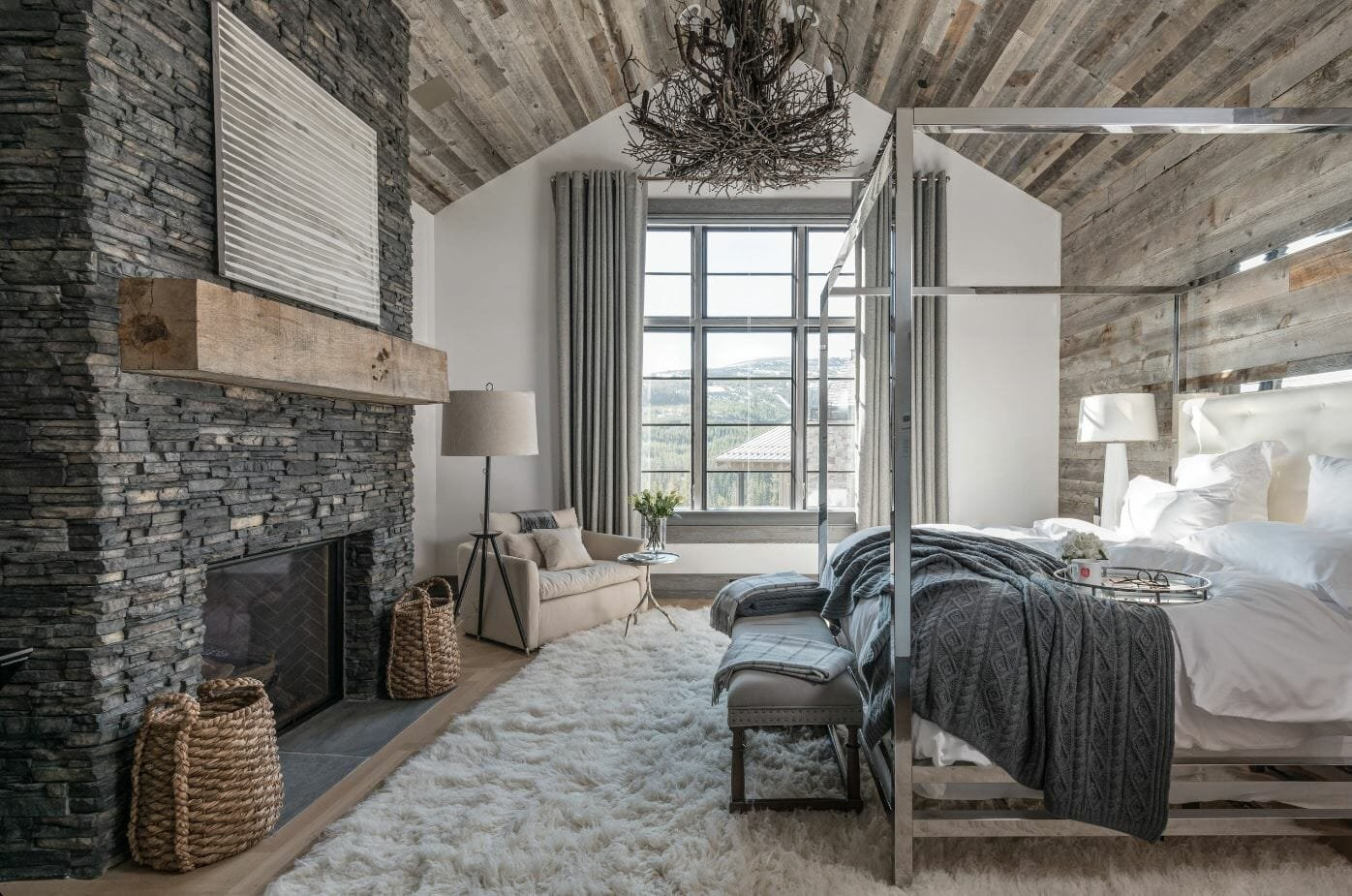 modern rustic interior design bedroom