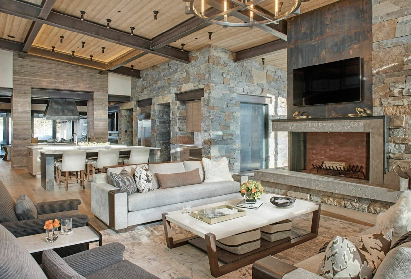 modern rustic interior design natural materials