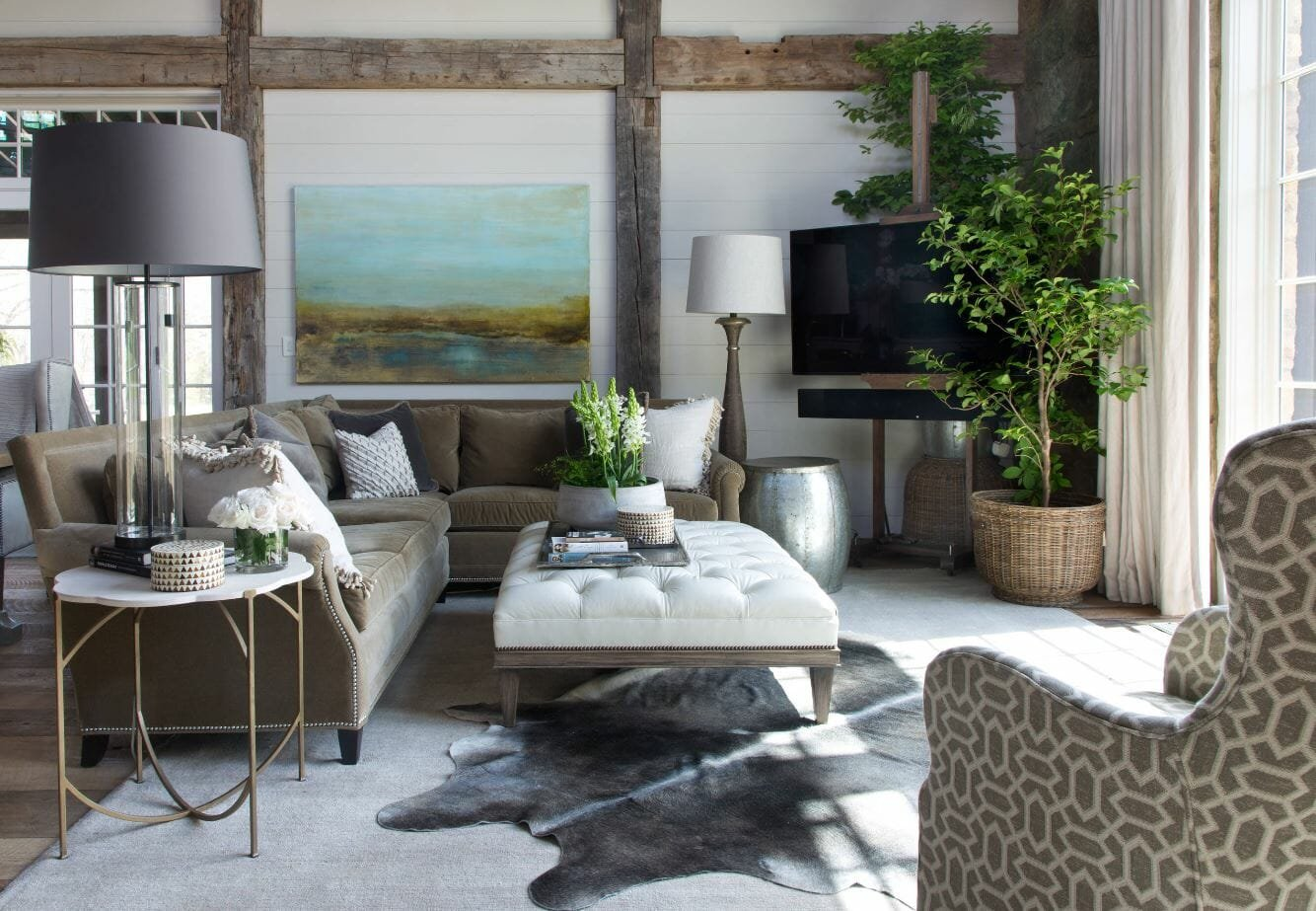 modern rustic interior design plants