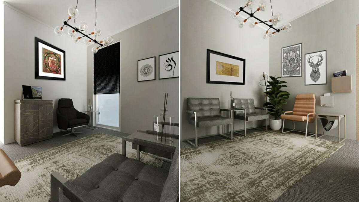 Before after sophisticated and modern therapist office - Design your room online ...