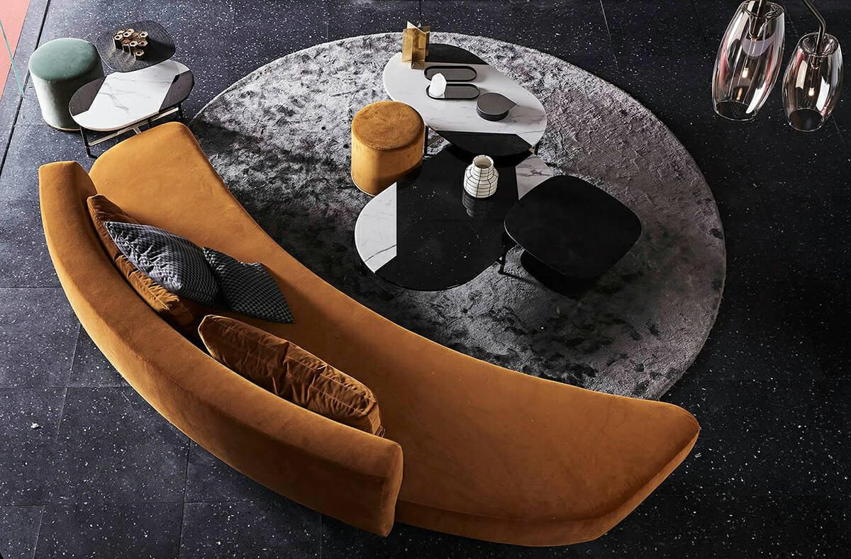 spring interior design trends round sofas