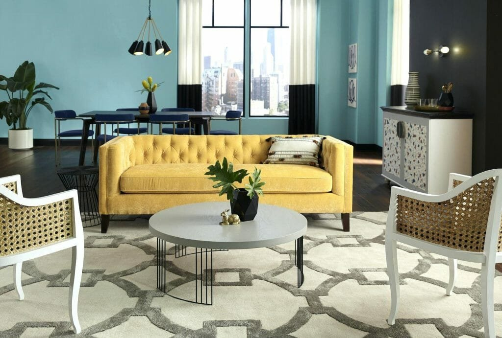 spring interior design trends yellow