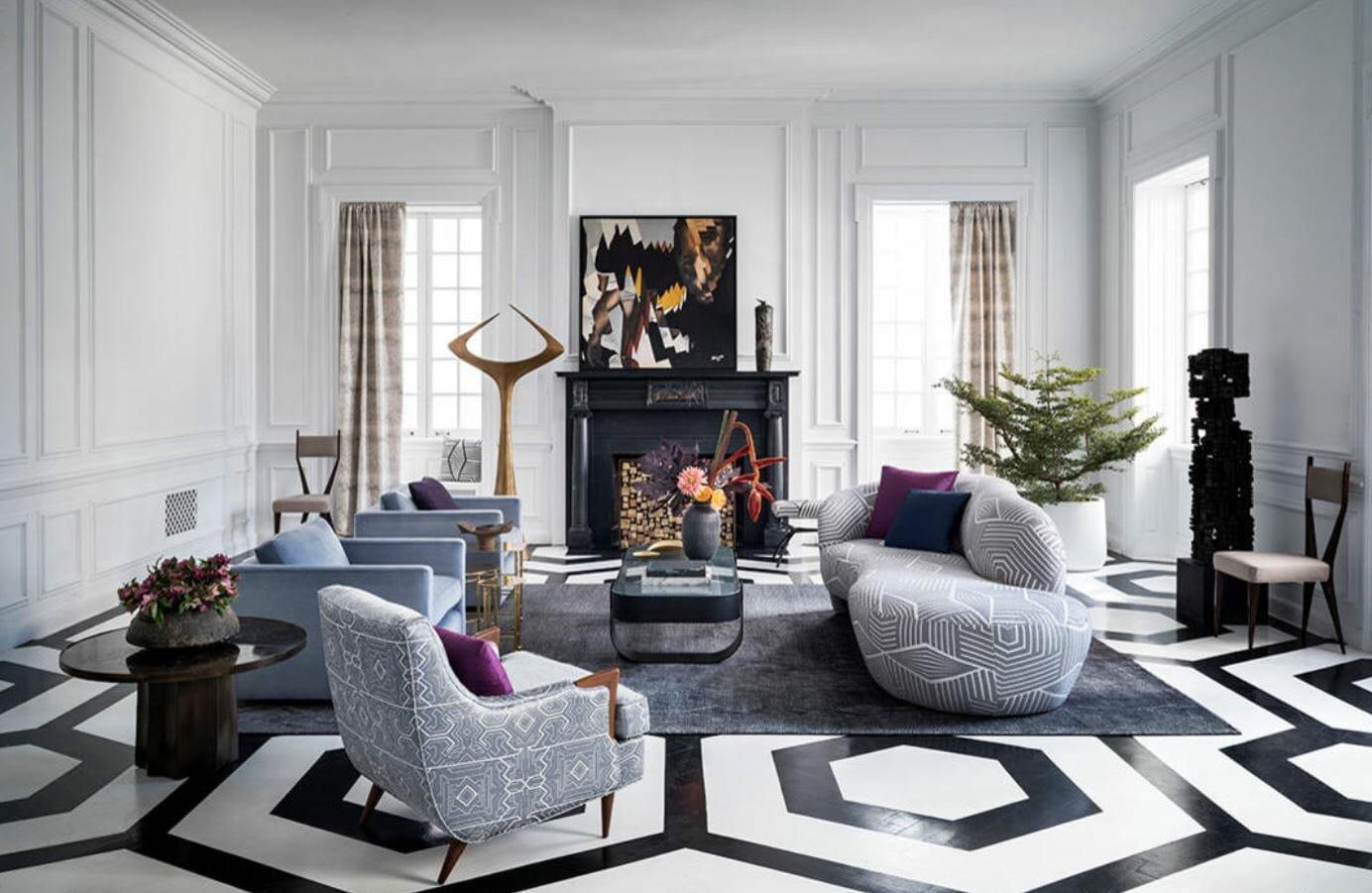 winter 2019 interior design trends round furniture