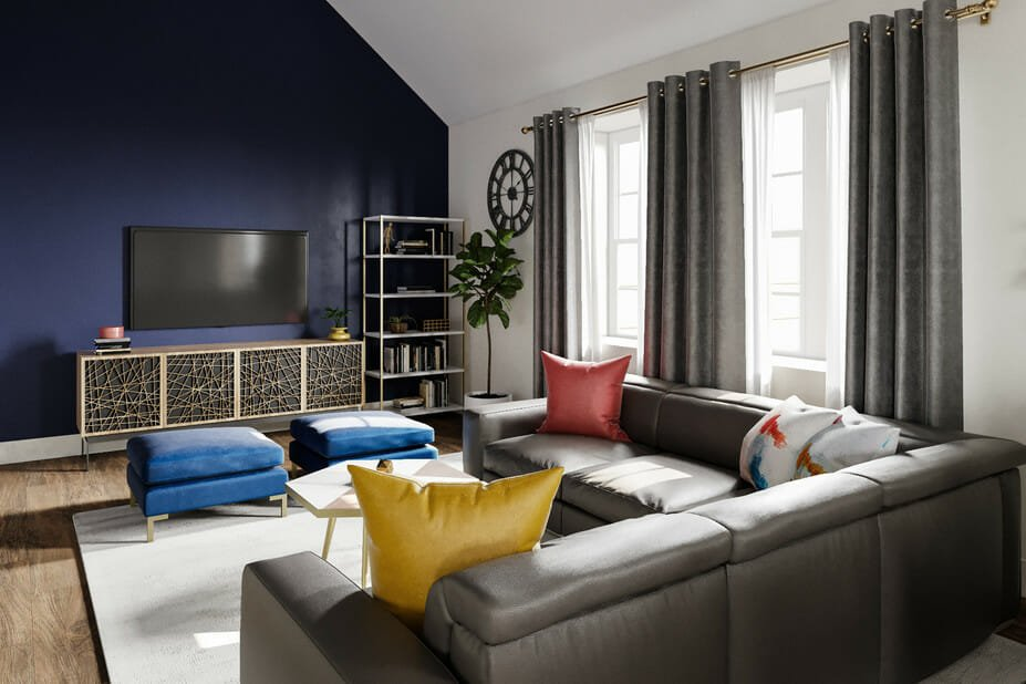 eclectic home interior design family room 2