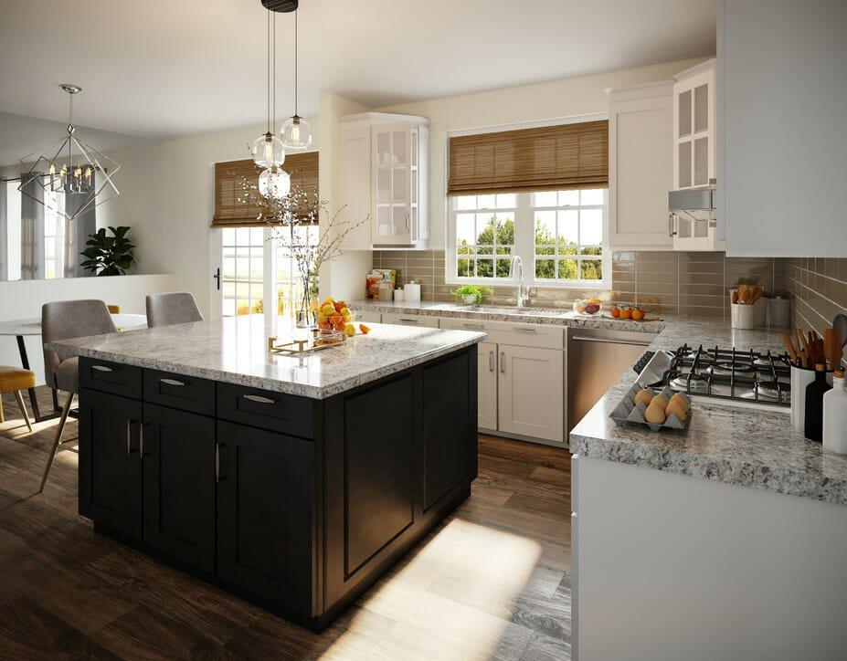 eclectic home interior design kitchen