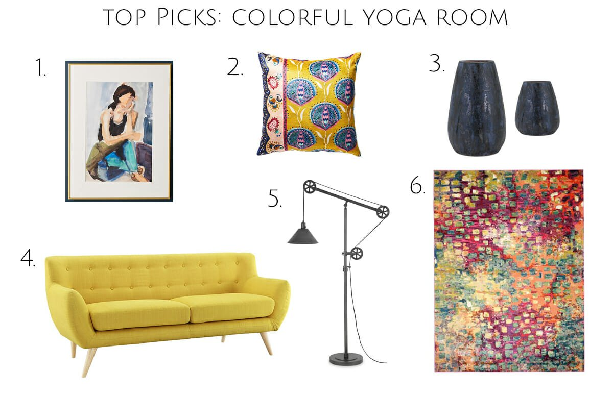 Before After Colorful And Calming Yoga Room Design Decorilla