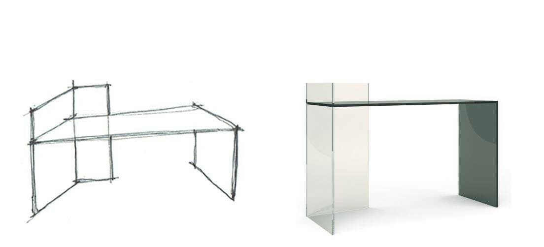 OONIKO high end glass furniture elle